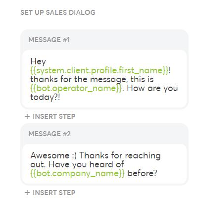 Sales-Dialog