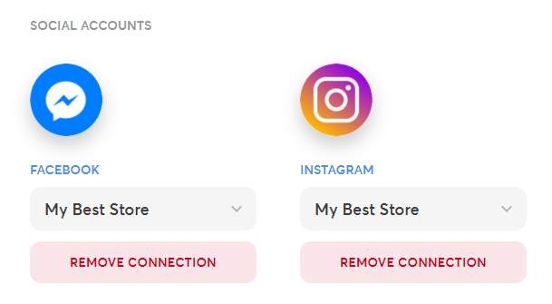 Social Accounts Connected